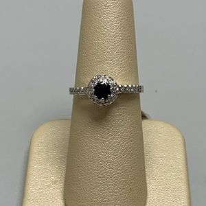 Jewelry - 18K White Gold Sapphire And Diamond Ring Size 6